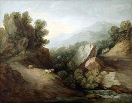 Gainsborough | Rocky, Wooded Landscape with a Dell and Weir, c.1782/83 | Giclée Canvas Print