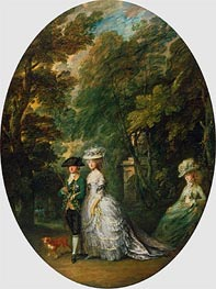 Gainsborough   Henry, Duke of Cumberland, with Anne, Duchess of Cumberland, and Lady Elizabeth Luttrell, c.1785/88   Giclée Canvas Print