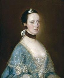 Gainsborough   Portrait of Mrs. John Gisborne, Undated   Giclée Canvas Print