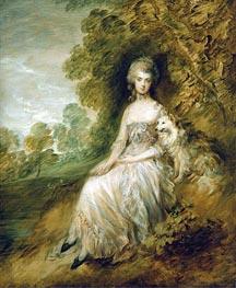 Gainsborough   Mrs Mary Robinson, 1782   Giclée Canvas Print