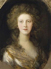 Gainsborough   Charlotte, Princess Royal, 1782   Giclée Canvas Print