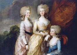 Gainsborough | The Three Eldest Princesses: Charlotte, Princess Royal, Augusta and Elizabeth, 1784 | Giclée Canvas Print
