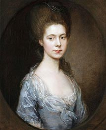 Mrs. George Oswald, c.1770/74 by Gainsborough | Giclée Canvas Print