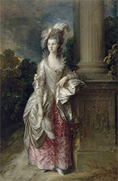 The Honourable Mrs Graham, c.1775/77 by Gainsborough | Giclée Canvas Print
