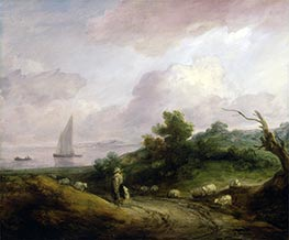 Gainsborough | Coastal Landscape with a Shepherd and His Flock | Giclée Canvas Print