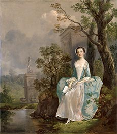 Girl with a Book Seated in a Park, c.1750 by Gainsborough | Giclée Canvas Print