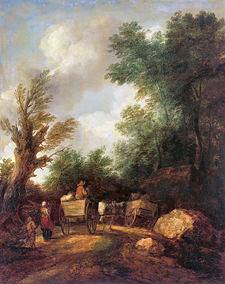 Landscape With Country Carts, c.1784/85 | Gainsborough | Painting Reproduction