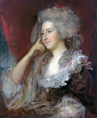 Mrs Fitzherbert, 1784 | Gainsborough | Painting Reproduction