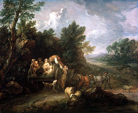 The Harvest Waggon, 1784 | Gainsborough | Painting Reproduction