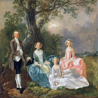 Mr and Mrs John Gravenor and their Daughters, Elizabeth and Ann, Undated | Gainsborough | Painting Reproduction