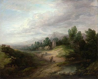 Wooded Upland Landscape, c.1783 | Gainsborough | Painting Reproduction