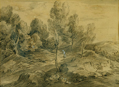 A Figure in a Landscape, c.1775/80 | Gainsborough | Painting Reproduction
