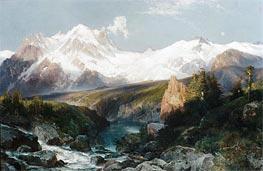 Thomas Moran | The Teton Range | Giclée Canvas Print