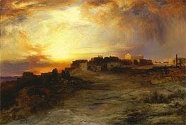 Thomas Moran   Pueblo at Sunset (Laguna), 1901   Giclée Canvas Print