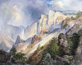 Thomas Moran | A Passing Shower in the Yellowstone Canyon, 1903 | Giclée Canvas Print