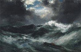 Thomas Moran | Moonlit Shipwreck At Sea | Giclée Canvas Print