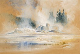 The Grotto Geyser, Firehole Basin, 1872 by Thomas Moran | Giclée Paper Print