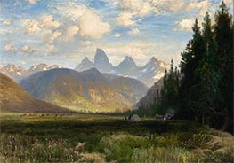 The Three Tetons, 1881 by Thomas Moran | Giclée Canvas Print