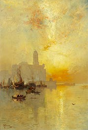 Venetian Seaport, Vera Cruz, 1885 by Thomas Moran | Giclée Canvas Print