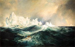 Icebergs in Mid-Atlantic, 1890 by Thomas Moran | Giclée Canvas Print