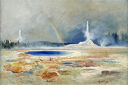 The Castle Geyser, Fire Hole Basin, a.1873 by Thomas Moran | Giclée Paper Print