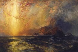 Thomas Moran | Fiercely the Red Sun Descending | Giclée Canvas Print