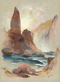 Tower at Tower Falls, Yellowstone, 1872 by Thomas Moran | Giclée Paper Print