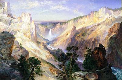 Grand Canyon of the Yellowstone, Wyoming, 1906 | Thomas Moran | Painting Reproduction