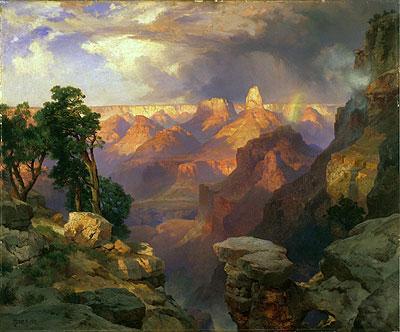 Grand Canyon with Rainbow, 1912 | Thomas Moran | Painting Reproduction