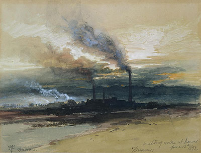 Smelting Works at Denver, 1892 | Thomas Moran | Painting Reproduction
