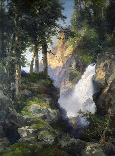 Falls at Toltec Gorge, 1913 | Thomas Moran | Painting Reproduction