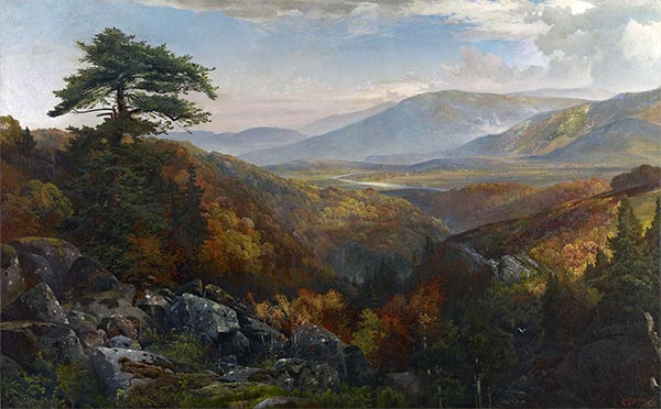 Valley of the Catawissa in Autumn, c.1862 | Thomas Moran | Painting Reproduction