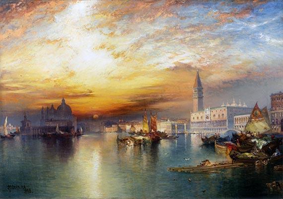 Grand Canal, Venice, 1898 | Thomas Moran | Painting Reproduction