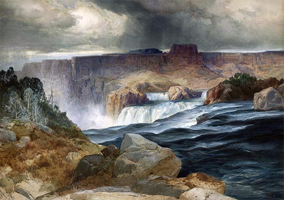 Shoshone Falls, Snake River, Idaho, undated | Thomas Moran | Painting Reproduction