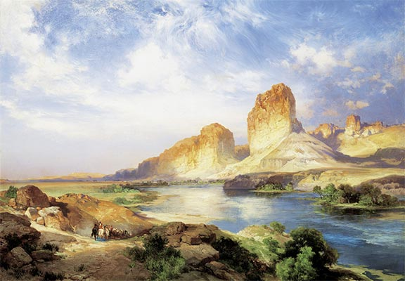 Green River, Wyoming, 1907 | Thomas Moran | Painting Reproduction