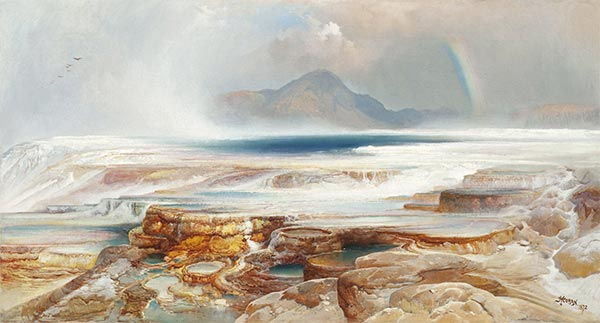 Hot Springs of the Yellowstone, 1872 | Thomas Moran | Painting Reproduction