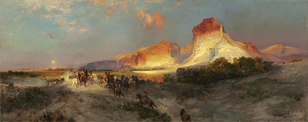 Thomas Moran | Green River Cliffs, Wyoming, 1881 | Giclée Canvas Print