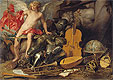 Willeboirts Bosschaert - Amor Triumphant among Emblems of Art, Science and War - Art Print / Posters