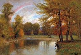Thomas Worthington Whittredge   The Rainbow, Autumn, Catskill, c.1880/90   Giclée Canvas Print