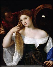 Titian | Woman with a Mirror | Giclée Canvas Print