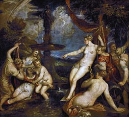 Diana and Callisto, 1568 by Titian | Giclée Canvas Print