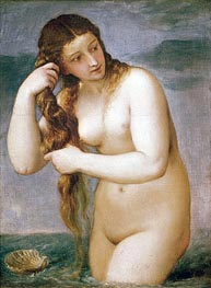 Venus Rising from the Sea (Venus Anadyomene), 1520 by Titian | Giclée Canvas Print