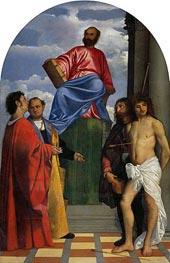 Titian | Saint Mark with other Saints, undated | Giclée Canvas Print