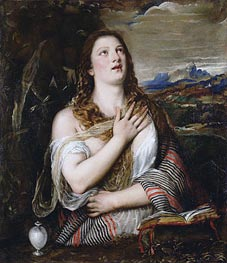 Titian | The Penitent Magdalene, c.1555/65 | Giclée Canvas Print