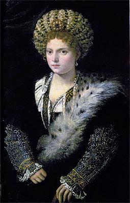 Portrait of Isabella d'Este, c.1534/36   Titian   Painting Reproduction