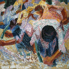 Umberto Boccioni | The Street Pavers, 1914 | Giclée Canvas Print