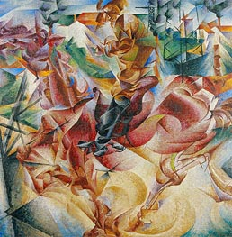 Umberto Boccioni | Elasticity, 1912 | Giclée Canvas Print