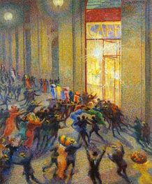 Umberto Boccioni | Riot in the Galleria (A Brawl), 1910 | Giclée Canvas Print