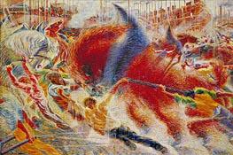 Umberto Boccioni | The City Rises, 1910 | Giclée Canvas Print