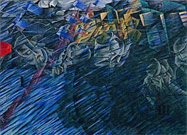 Umberto Boccioni | States of Mind II: Those Who Go, 1911 | Giclée Canvas Print